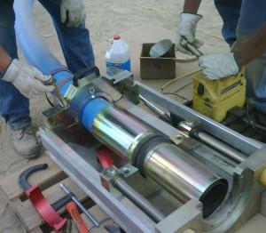 Inserting pipe